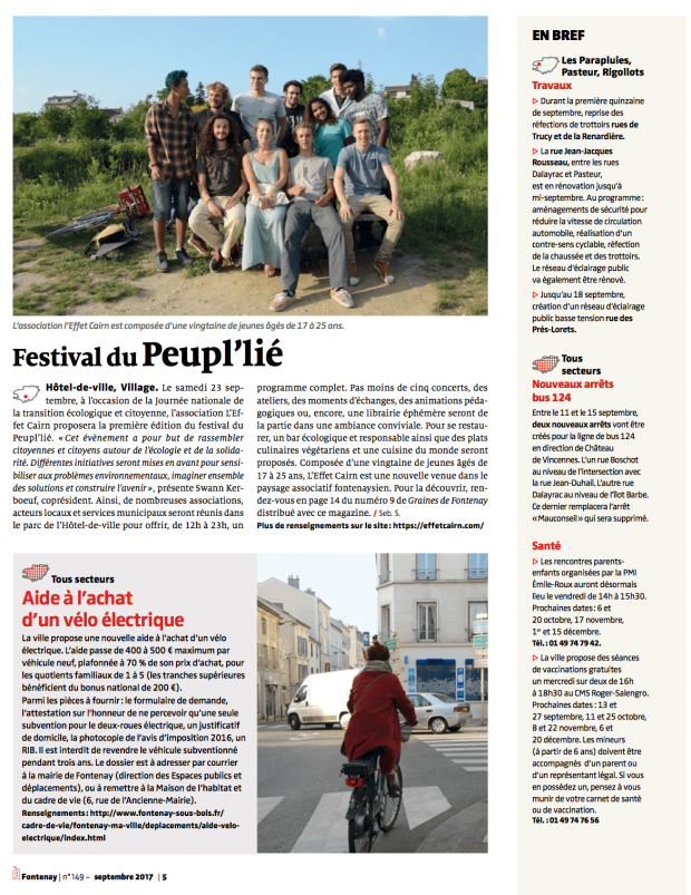 A Fontenay n°149 - 11:09:17 - festival du Peupl'lié