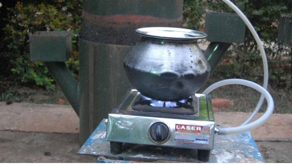 Photo biogaz et gazinière